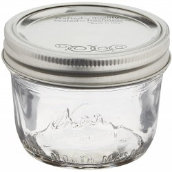 1 x Kerr Half Pint Wide Mouth Jar and Lid SINGLE