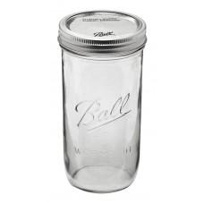 1 x Pint and a Half 24oz 650ml Wide Mouth Jar and Lid Ball Mason Single