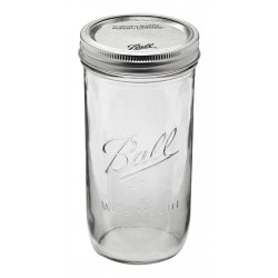 1 x Pint and a Half 24oz 650ml Wide Mouth Jar and Lid Ball Mason Single