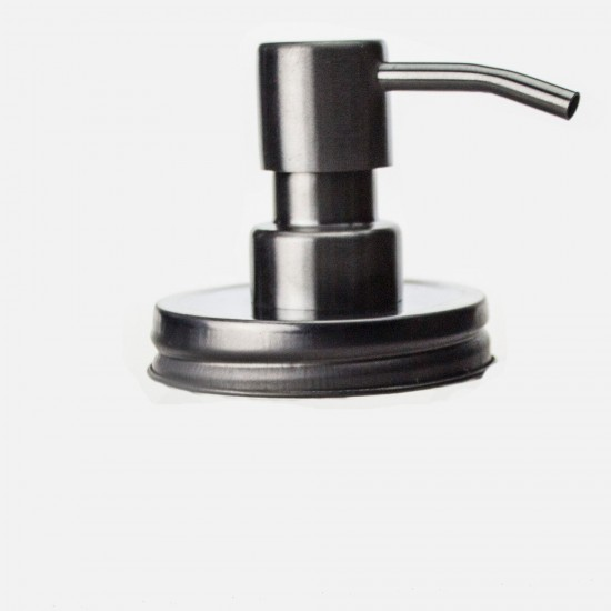 1 x Soap Dispenser Lid With Stainless Steel Pump  JAR NOT INCLUDED
