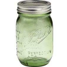 1 x SINGLE Ball Mason Heritage Collection Green US Pint 500ml Jar LIMITED STOCK
