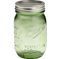 1 x US Pint 473ml Ball Mason Heritage Collection Green Jar - Single