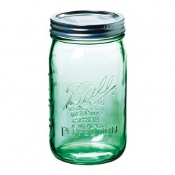 1 x US Quart 946ml Ball Mason Heritage Collection Green Jar - Single