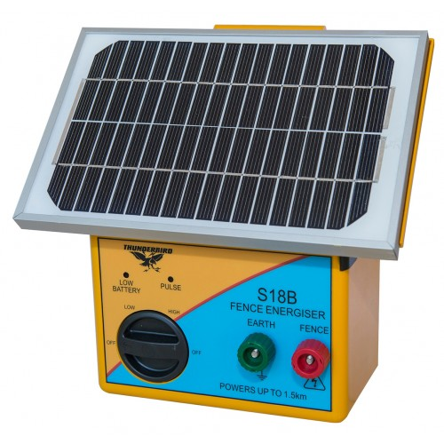 1.5km Solar Electric Fence Energiser with Battery