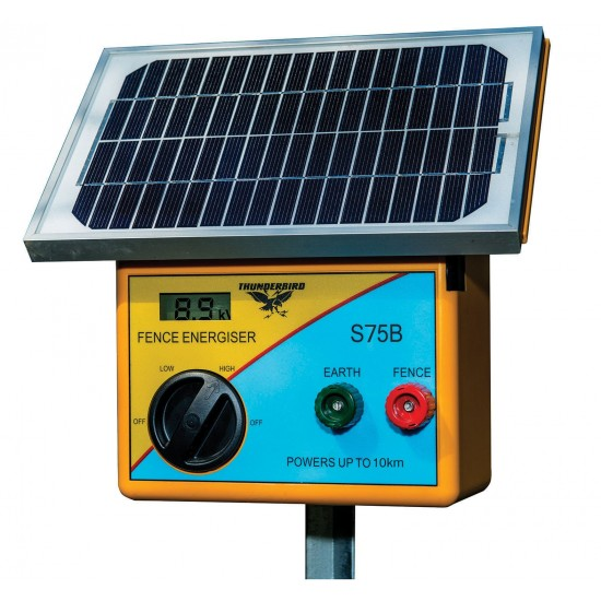 10km Solar Electric Fence Energiser with Battery
