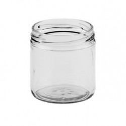 12 x 230ml round jar with straight sides -  lids not included