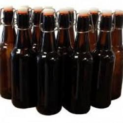 12 x 500ml Amber Flip Top Grolsch Style Beer Fermenting Bottle