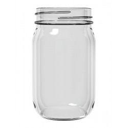 12 x Bell Pint 16oz Economy Smooth Regular Mouth Jars - Lids Not Included