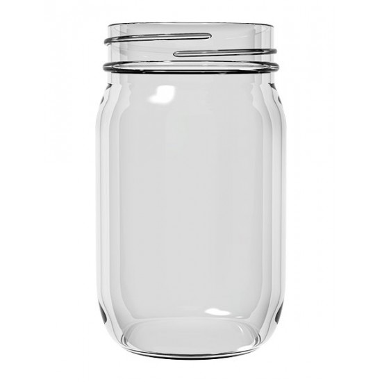 12 x Bell Pint 16oz Economy Smooth Regular Mouth Jars Lids Not Included