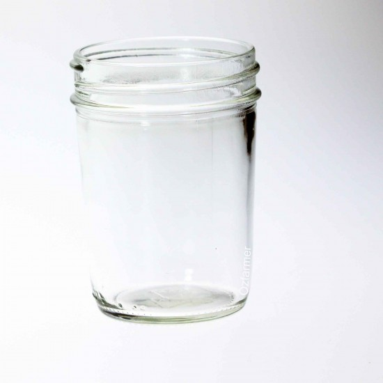 12 x Bell USA Smooth Half Pint / 8oz Regular Mouth Jars  Lids Not Included