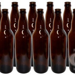 12 x Bottle Glass Amber 750ml Lids not included