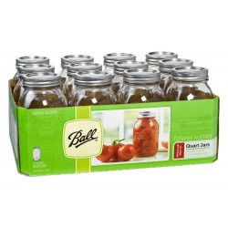 12 x Quart Regular Mouth Jars and Lids Ball Mason