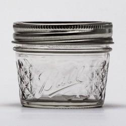 12 x 4oz / 120ml Quilted Jam Jars and BPA Free Lids Ball Mason