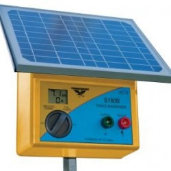 20km Solar Electric Fence Energiser with Battery Internal Batteries Fitted
