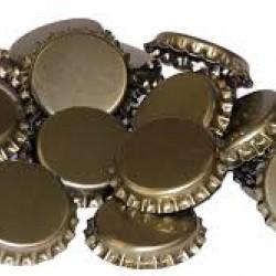 250 x Gold Crown Caps for Standard Crown Beer Bottles