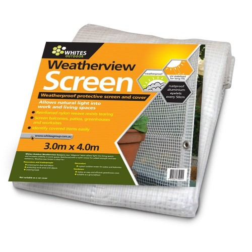 3 x 4 metres Weatherview Screen See Through Tarpaulin