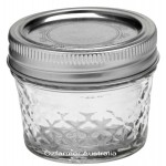 6 x 4oz / 120ml Quilted Jam Jars and Lids Ball Mason