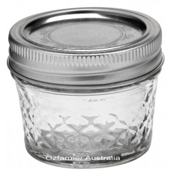 4 x 4oz Quilted Jam Jars and Lids Ball Mason
