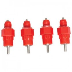 4 x Poultry Waterer Nipples with Thread