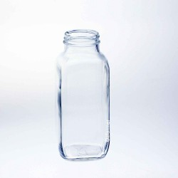 40 x Bell 16 oz Dairy French Square Bottles- Lids Not Included