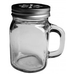 48 x 12oz Handle Jars / Beer / Moonshine Glass Mugs Regular Mouth