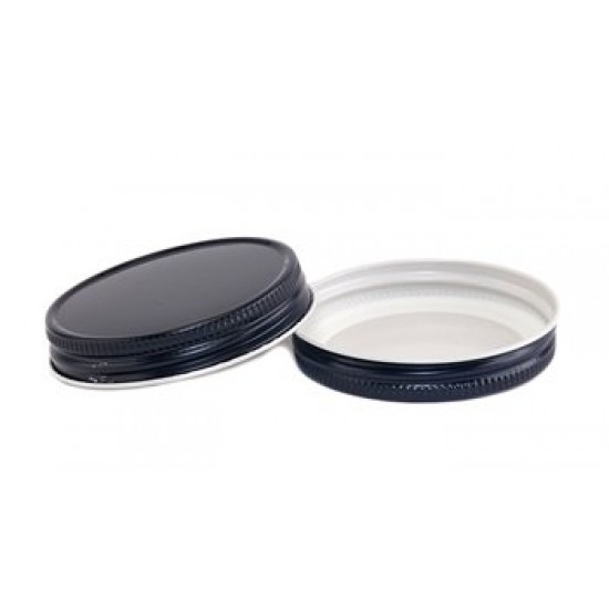58mm Screw Top CT Tin Lid with Food Safe Lining One Piece