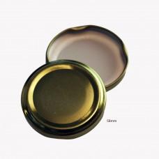 58mm TWIST TOP Lids GOLD