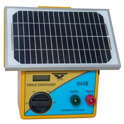 5km Solar Electric Fence Energiser with Battery
