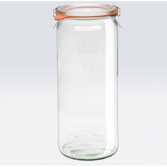 6 x 1 Litre Cylinder Jar WECK-908