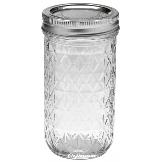 12oz Quilted Jam Jar