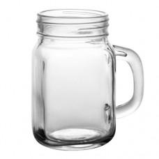6 x 20oz  590ml Handle Jars / Beer / Moonshine Glass Mugs Regular Mouth