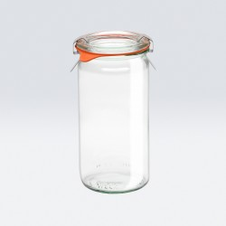 6 x 340ml Cylinder Jar WECK  - 975