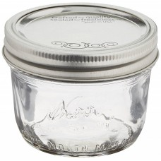6 x Kerr Half Pint Wide Mouth Jar and Lid