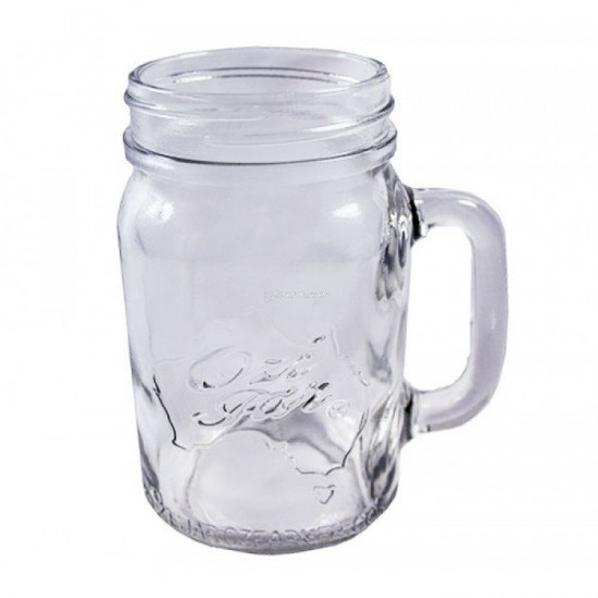 6 x Ozi Pint Jars / Beer / Moonshine  / Smoothies Includes BONUS Straw Lids