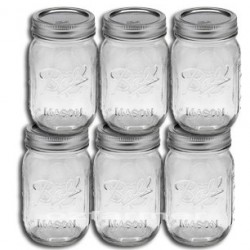 6 x Pint REGULAR Mouth Jars and Lids BPA Free Ball Mason OUT OF STOCK