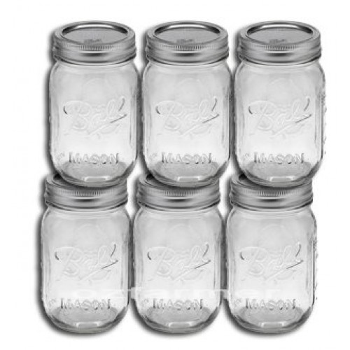 6 x Pint REGULAR Mouth Jars and Lids BPA Free Ball Mason OUT OF STOCK