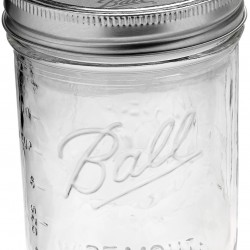 6 x Pint WIDE Mouth Jars and BPA Free Lids Ball Mason