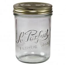 6 x 750ml Le Parfait Familia Wiss Preserving Mason Jars