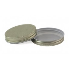 83mm SCREW TOP  CT Tin Lid with Food Safe Lining One Piece GOLD