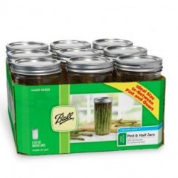9 x Pint and a Half 24oz 650ml Wide Mouth Jars and Lids Ball Mason OUT OF STOCK INDEFINITELY
