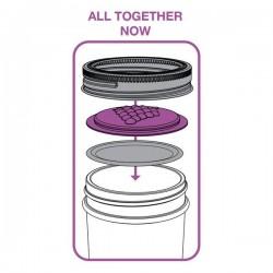 4 x Grape Fruits Jam Lids Suits Regular Mouth Mason Jar