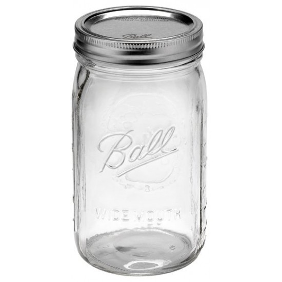 1 x Quart Soap Dispenser Ball Mason Wide Mouth With Stainless Steel Pump