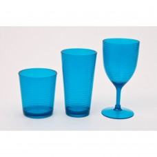 Acrylic Wine Glasses Blue or Green