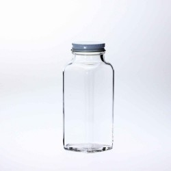 Bell 8oz Dairy French Square Bottles with optional lids - Case of 84