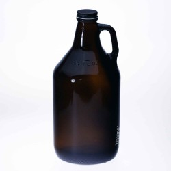 Bell Amber Glass Growler Jar Half Gallon - Lid Optional Extra