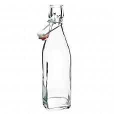 Bormioli Rocco 1 Litre Glass Swing Top bottle Water Kombucha
