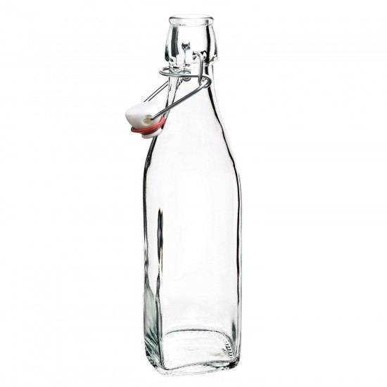 Bormioli Rocco 1 Litre Glass Swing Top bottle Water Kombucha