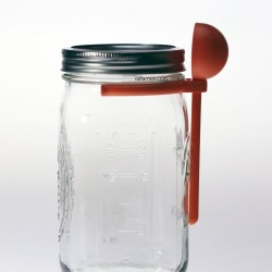 Coffee Spoon Clip Lid Attachment Suits Wide Mouth Mason Jar