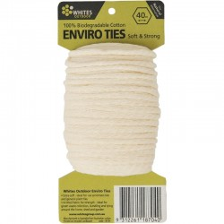 Enviro Ties Natural Alternative Cotton Plant Ties 40m Whites