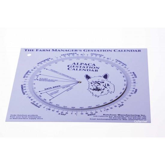Gestation Calendar Alpacas